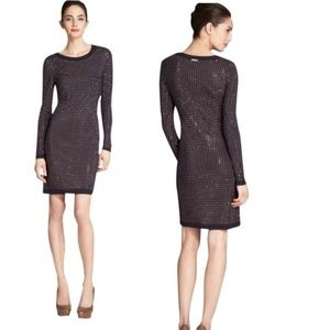 NWT Michael Kors Dark Navy Stretch Studded Dress S